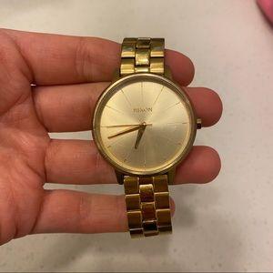 Gold Nixon Kensington Watch